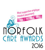 Shortlisted finalist for the Norfolk Care Awards 2014